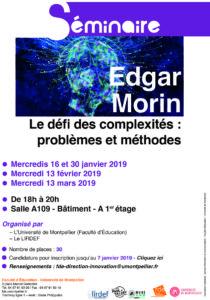 Affiche séminaire Edgar Morin